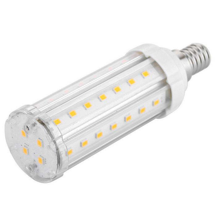 E14 12W 46 x 5630 SMD LED 1020lm 3000K Warm White LED Corn Light Bulb
