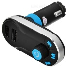 JEDX Bluetooth V2.1 Handsfree Car FM Transmitter - Black + Blue
