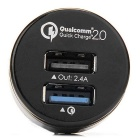 Tronsmart TS-CC2PC Quick Charge 2.0 2-Port Car Charger Adapter - Black