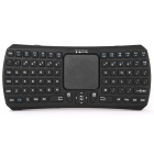 Wireless 81-Key Mini Bluetooth Touchpad Keyboard for IPHONE / Samsung - Black