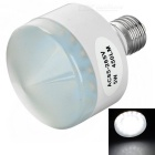 E27 5W LED Bulb Lamp White Light 6300K 450lm 25-SMD 2835 - White + Silver (AC 85~265V)
