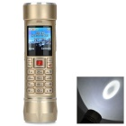 "A7+ LED White Flashlight / Power Bank / GSM Phone w/ TF, Dual-SIM, 2.0"" Screen, Bluetooth - Golden"