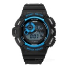 SANDA Waterproof Anti-Shock Digital Watch - Black + Blue (1*2016)