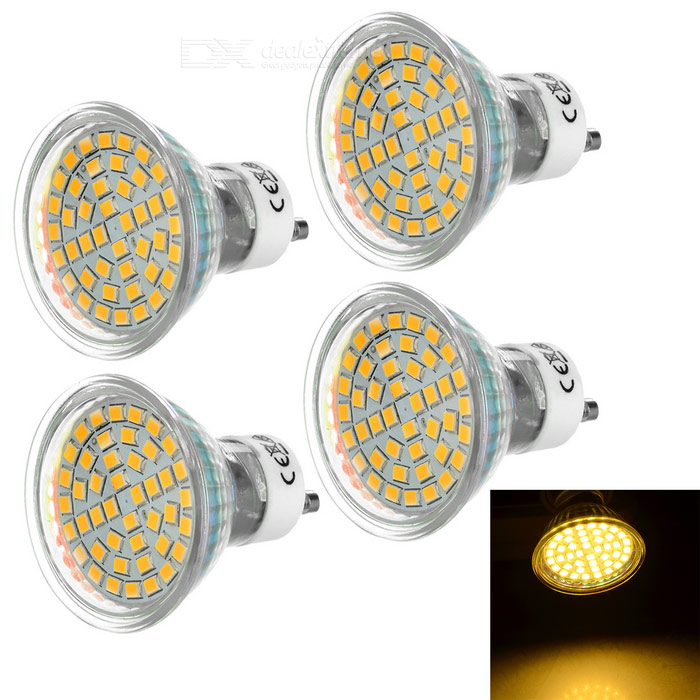 GU10 5W 44-LED Spotlight w/ Glass Cover Warm White 3200K 240lm SMD 2835 (AC 220-240V / 4PCS)