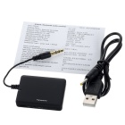 Bluetooth TV PC Free Drive 3.5mm Remote Audio Transmitter - Black