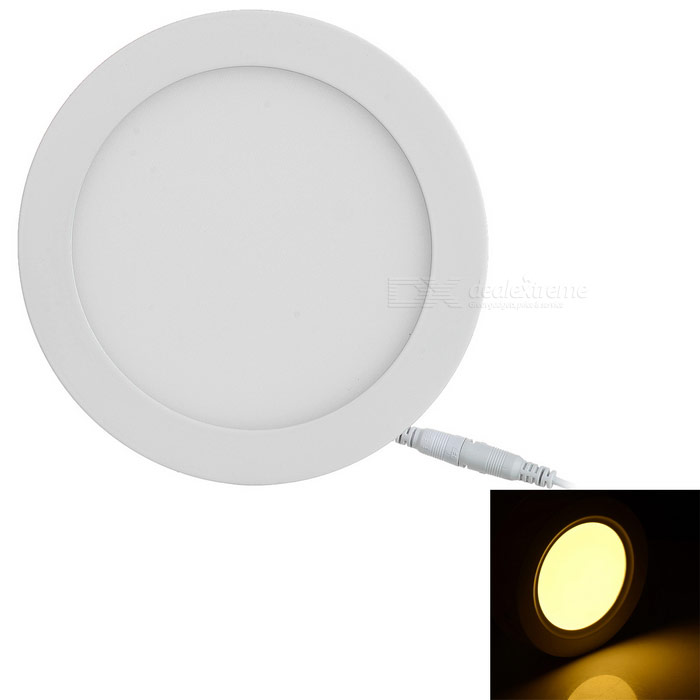 15W Warm White LED Round Panel Light 1300lm w/ LED Driver (AC 85~265V)