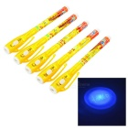 Cute 1mm Writing Hidden Pens w/ Ultraviolet Money Detector Light - Yellow + White (5 PCS / 3 x AG3)