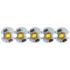 3W 180lm 6450K White R3 LED Emitter for Flashlight (DC 3.2~3.6V / 5PCS)