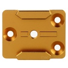 Aluminum Alloy Mount Adapter Base for Gopro Hero 4 / 3+ / 3 / 2 / 1 / 4 Session - Golden