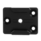 Aluminum Alloy Mount Adapter Base for Gopro Hero 4 / 3+ / 3 / 2 / 1 / 4 Session - Black
