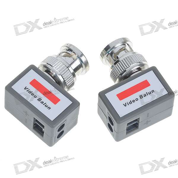 Network CAT5 to Camera CCTV BNC Video Balun Transceiver (2-Piece Set)