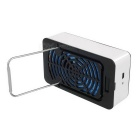 Mini USB Bladeless Cooling Fan / Air Conditioner - Blue + Black