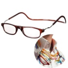 NEJE Unisex Folding Magnetic Magnifying Neck Hanging Reading 3.0D Presbyopic Glasses - Brown
