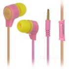 KEEKA Universal 3.5mm In-Ear Earphones w/ Microphone for IPHONE / Samsung + More - Pink