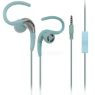 KEEKA KA-34 Universal Earhook Earphone w/ Mic for IPHONE / Samsung / HTC / Nokia - Blue (3.5mm)