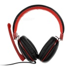 VYKON ME777 USB 2.0 Gaming Headphone Headset w/ Microphone for PC / Phone - Black + Red