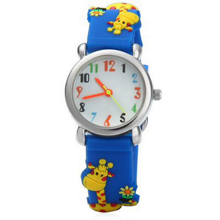 Giraffe Style Children Quartz Analog Watch - Blue + Yellow (1*SR626)