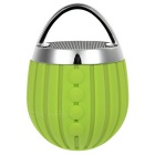 Waterproof Bluetooth V3.0 Subwoofer Outdoor Sports Speaker w/ TF Slot & Hands-Free - Green + Silver