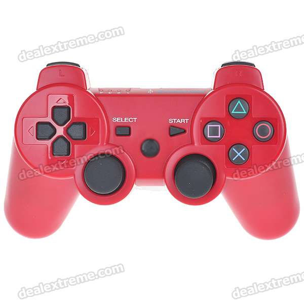 600mAh Rechargeable Wireless Dual-Shock Game Controller für PS3 (Red)