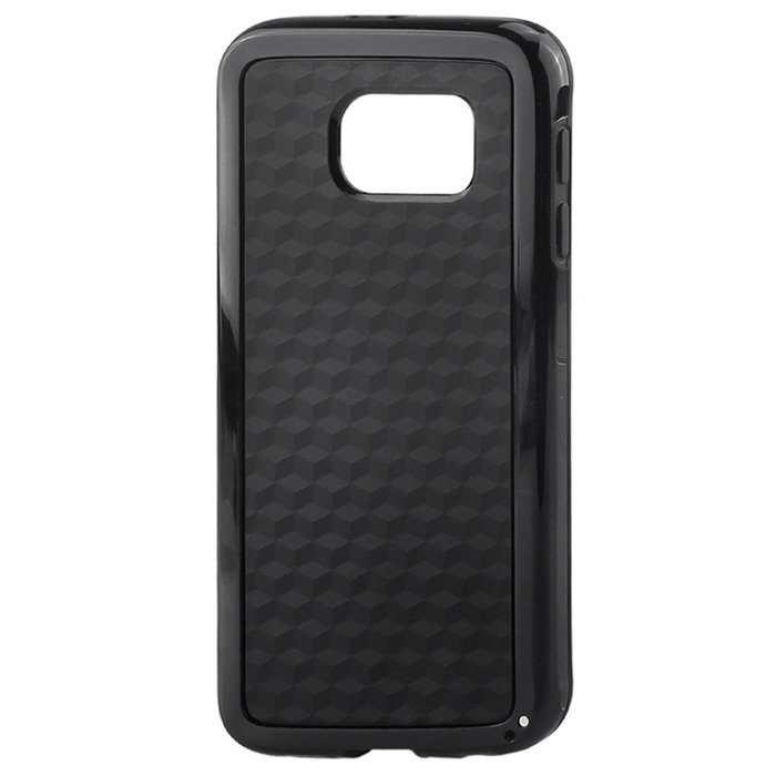 Fashionable Durable TPU + PC Back Case for Samsung Galaxy S6 - Black