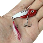 3D Fish Style Stainless Steel Fishing Bait Fish Hook - Red + Silver