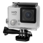 "S2 HD 2.0"" Screen 2.0MP 140° Wide Angle 30m Waterproof Sports Camera - White + Black"
