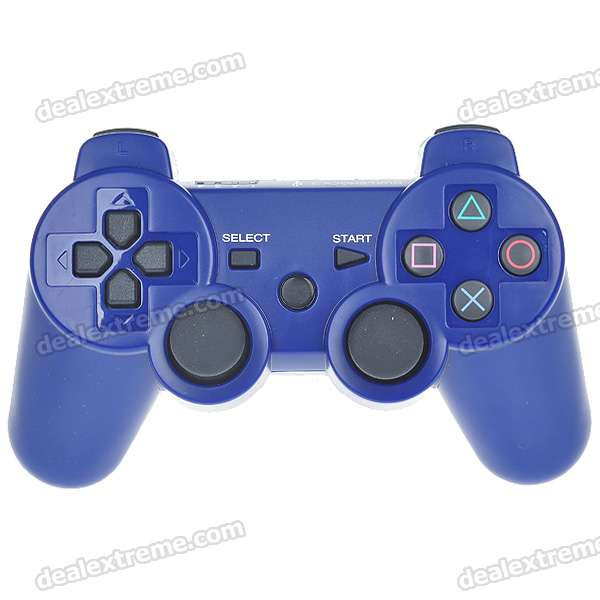 600mAh Rechargeable Wireless Dual-Shock Game Controller für PS3 (Blue)