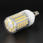 E14 9W LED Corn Light Lamp Bulb Warm White 3500K 1200lm 96-SMD 5730 (220~240V)