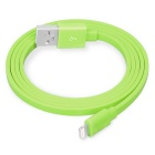 Yellowknife 8-Pin Charging & Sync Data Flat USB Cable for IPHONE 6 / IPAD - Grass Green (1m)