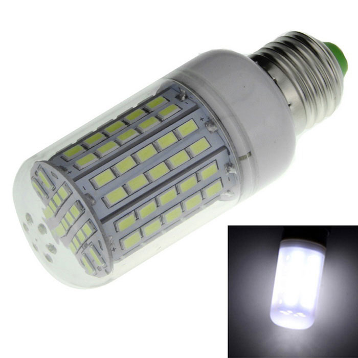 E27 9W LED 96-SMD 5730 Bluish White Light Corn Bulb 1200lm (220~240V)E27<br>Form  ColorWhite + SilverColor BINBluish whiteMaterialPlastic + aluminumQuantity1 DX.PCM.Model.AttributeModel.UnitPower9WRated VoltageAC 220-240 DX.PCM.Model.AttributeModel.UnitConnector TypeE27Chip BrandHugaChip TypeLEDEmitter TypeOthers,5730 SMD LEDTotal Emitters96Theoretical Lumens1800 DX.PCM.Model.AttributeModel.UnitActual Lumens1000-1200 DX.PCM.Model.AttributeModel.UnitColor Temperature7000KDimmableNoBeam Angle360 DX.PCM.Model.AttributeModel.UnitCertificationCE, RoHSPacking List1 x LED bulb<br>