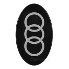 3-Coil QI Wireless Charger for Samsung S6 Edge + More - Black + Grey