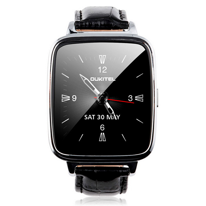 "OUKITEL A28 1.54"" IPS Smart Watch w/ Heart Rate Monitor - Black+Silver"