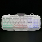 M-500USB2.0Wired114-KeyGamingKeyboardw/Backlight-White+Black