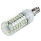 E14 6W LED Corn Lamp Cool White Light 750lm 6500K 69-SMD 5730 - White (AC 220~240V)