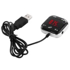 "1.2"" LCD Bluetooth V3.0 + EDR manos libres Car Kit MP3 Reproductor / transmisor FM - negro + plata"
