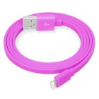 Yellowknife Lightning 8-Pin Charging / Sync Data Flat Cable for IPHONE 6 / IPAD - Dark Pink (1m)