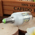 E14 3.5W LED Corn Lamp Cool White Light 400lm 6500K 24-SMD - White