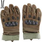 Outdoor Tactical / Racing Anti-slip Anti-cuts Full Finger Gloves - Green (Size M / Pair)