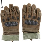 Outdoor Tactical / Racing Anti-slip Anti-cuts Full Finger Gloves - Green (Size L / Pair)