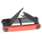 EastRay High Carbon Steel Hex Wrench Tools Set - Red