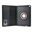 Rotary Protective Case w/ Auto-Sleep, Stand for IPAD AIR 2 - Black