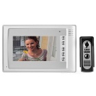 "7"" Color TFT LCD Home Security Video Door Phone Kit w/ IR Night Vision - White + Blue (EU Plug)"