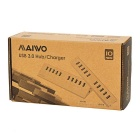 Maiwo super nopeus 10-Port USB 3.0 HUB w / USA liittimet Power Adapter - Gold