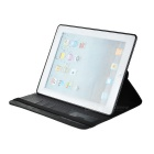 Protective Case w/ Auto-Sleep / Stand for IPAD 2 / 3 / 4 - Black
