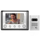 "7"" Color TFT LCD Security Video Door Phone Kit w/ IR Night Vision - Dark Grey + Silver (EU Plug)"