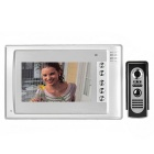 "7"" Color TFT LCD Home Security Video Door Phone Kit w/ IR Night Vision - White + Dark Grey (EU Plug)"