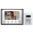 "7"" Color TFT LCD Home Villa Security Video Door Phone Kit w/ IR Night Vision - Silver (EU Plug)"