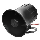 15W 110dB Loud Security Alarm Siren Horn Speaker - Black (DC 12V)