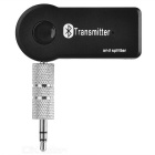 3.5mm Plug 1-to-2 Bluetooth Audio Transmitter for Headset / Smart TV / DVD / MP3 - Black