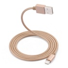 Yellowknife MFI Certified Braided 8-Pin USB Data Sync / Charging Cable for IPHONE / IPAD - Golden